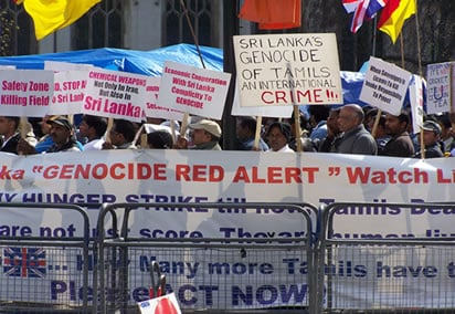Protests at Westminster April 2009