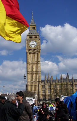 Tamil Protests in Westminster Square