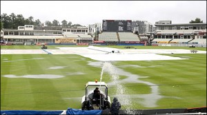 The pitch at Edgbaston this morning