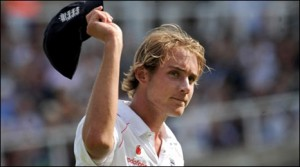 Stuart Broad, who's Five Wicket Haul at the Brit Oval helped England to a commanding position in The Ashes 2009