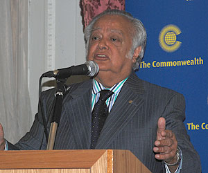 Shridath Ramphal - former Secretary General of the Commonwealth