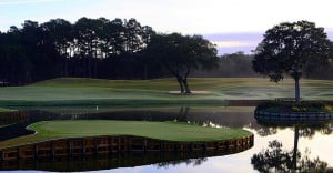 17th Hole at TPC Sawgrass, which hosts the USPGA Players Championship