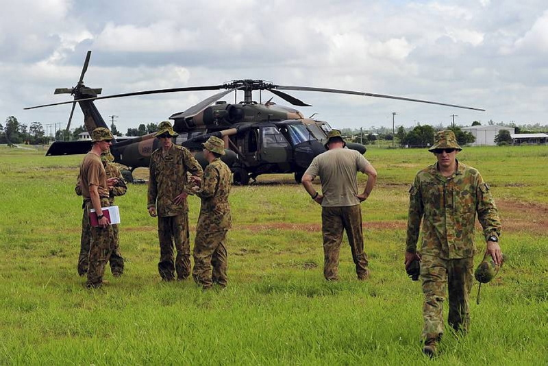 The Australian Defence Force (ADF) are using Black Hawk Helicopters to assist with the Queensland floods
