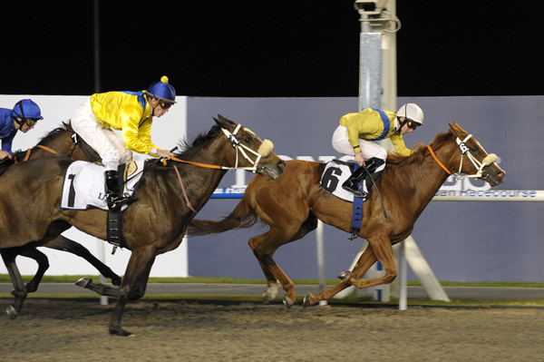 Reem wins the 2011 UAE 1000 Guineas Trial at Meydan