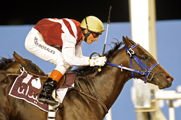 Saboteur wins at Meydan, UAE, under Jesus Rosales