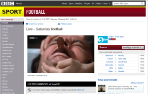"BBC Website Shows ""One Flew Over The Cuckoo's Nest"" Rather Than Football Focus"