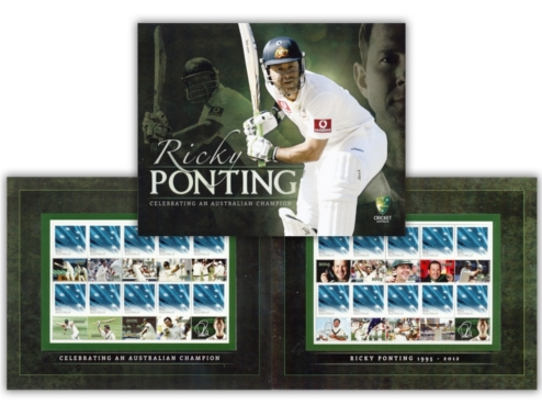 The new Ricky Ponting Commemorative Stamp Pack from Australia Post