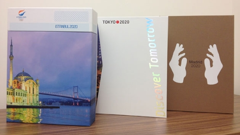 The candidature files for the 2020 Olympics from Turkey, Japan & Spain