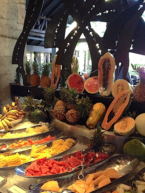 Tropical fruit at Tin Mine  buffet breakfast