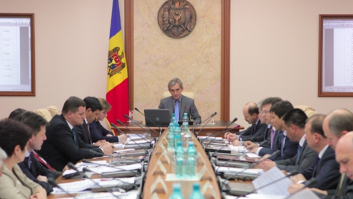 Prime Minister Designate Iurie Leanca chairs a cabinet meeting on 29th May 2013