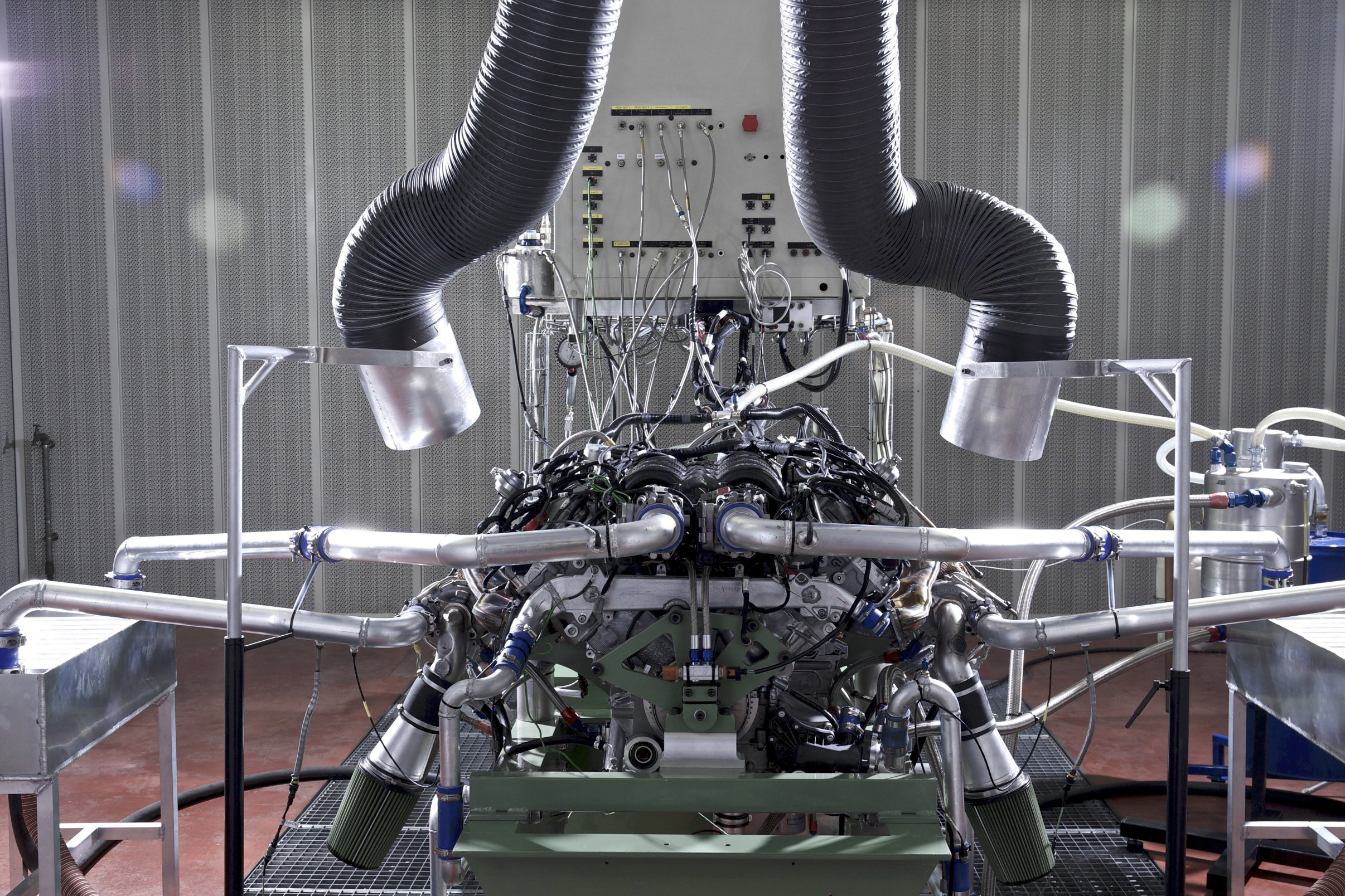 The engine of the Bentley Continental GT3 racer.