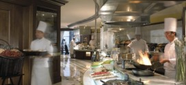 The kitchen at the Ritz-Carlton