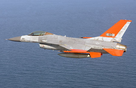 The QF-16 Pilotless Jet from Boeing. Photo: U.S. Air Force photo by Staff Sergeant Javier Cruz