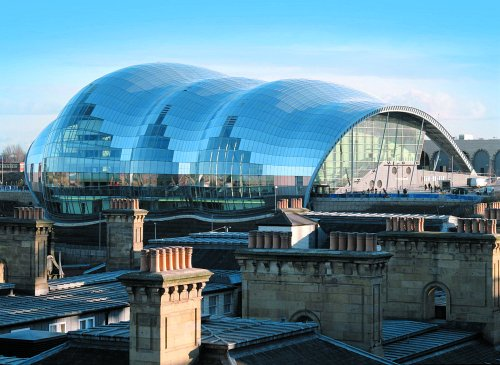 Steelguard waterborn coatings help protect the Sage in Newcastle, UK, from fire.