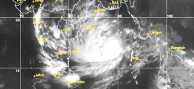Tropical Storm Hudhud as viewed from the Kalpana 1 satellite via Infrared