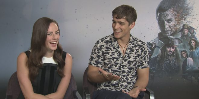 Kaya Scodelario, Brenton Thwaites, Javier Bardem and Geoffrey Rush imagine they're pirates