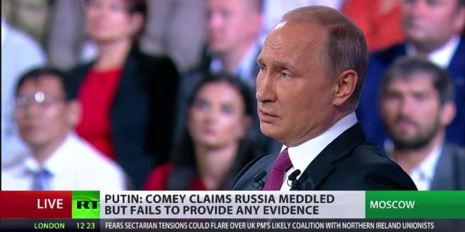 'We are ready to provide political asylum to Comey' – Putin at at Q&A session