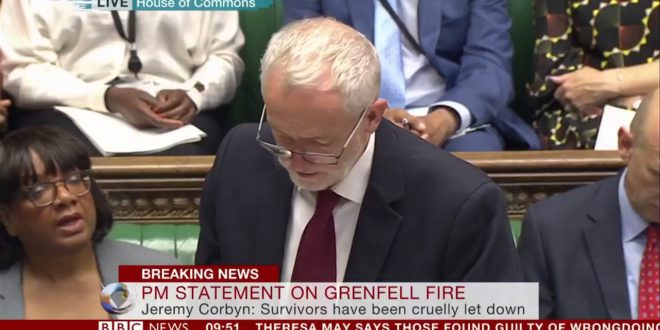 "Corbyn On Grenfell Tower fire ""deaths could and should have been avoided"" – BBC News"