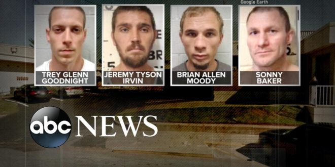 Manhunt underway for 4 inmates who escaped from Oklahoma jail