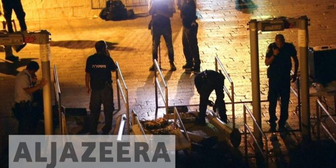 Israel removes metal detectors from al-Aqsa Mosque compound