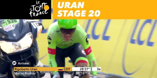 Uran almost felt and finish – Stage 20 – Tour de France 2017