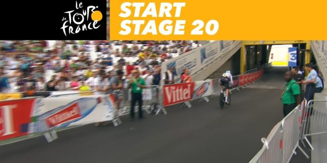 Start of the time trial – Stage 20 – Tour de France 2017