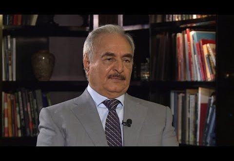 Libya's Haftar vows to deal with terrorists 'through weapons'