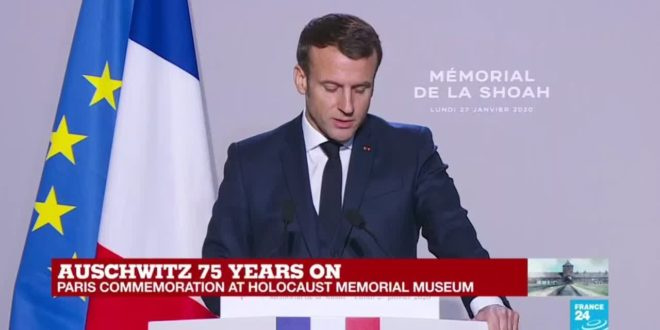 "Macron: ""Those who were deprived of a name in exchange for a number retrieve here their identities"""