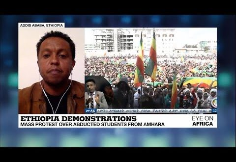 Tens of thousands take to streets in Ethiopia over abducted students