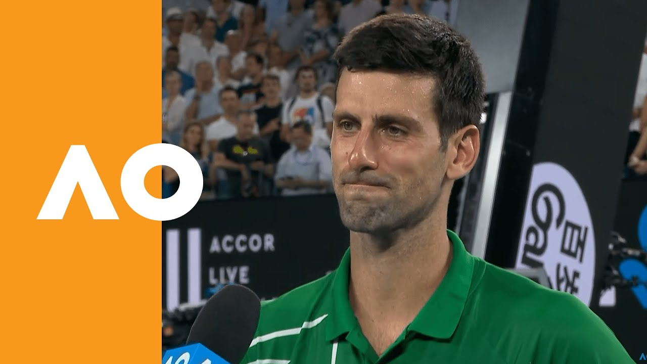 Novak Djokovic Respect To Roger For Coming Out Tonight Australian Open 2020 On Court Interview The Global Herald