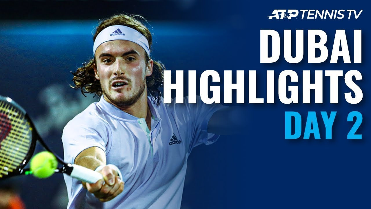 Tsitsipas Keeps Winning; Evans Ousts Fognini | Dubai 2020 Highlights Day 2