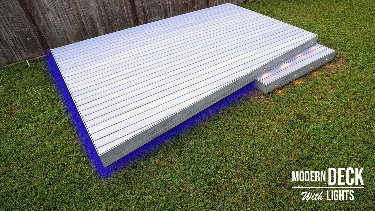 Building A Ground Level Deck With Led Lights L Composite Deck Part 2 The Global Herald