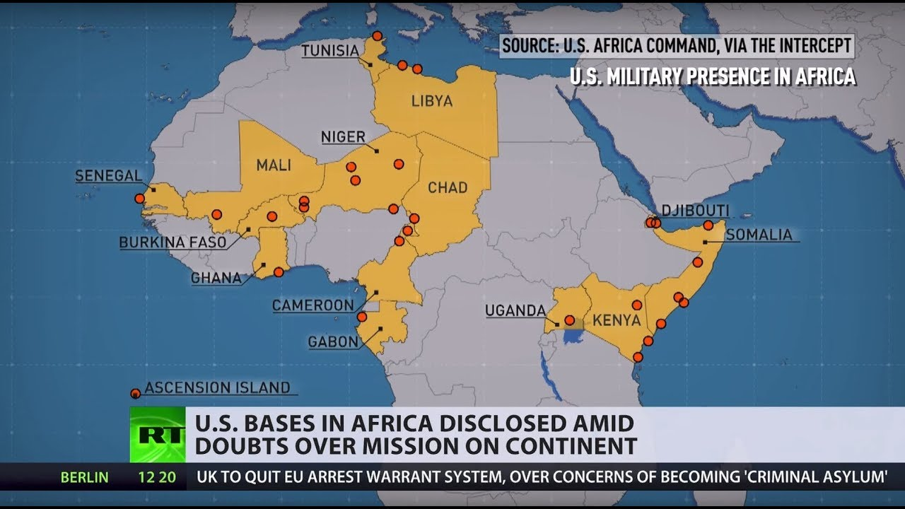 Us Military Bases In Africa Map Formerly secret data discloses US military bases in Africa   The