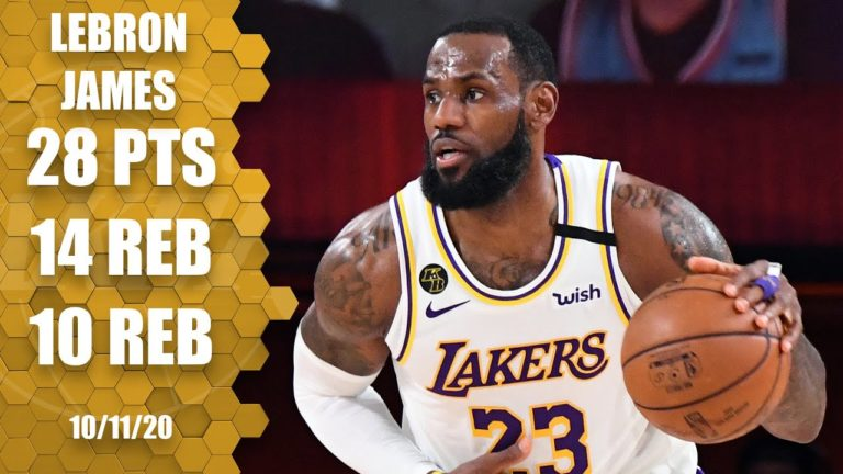 LeBron James posts triple-double for Lakers to win NBA ...