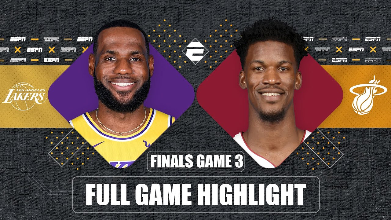 Los Angeles Lakers vs. Miami Heat [GAME 3 HIGHLIGHTS ...