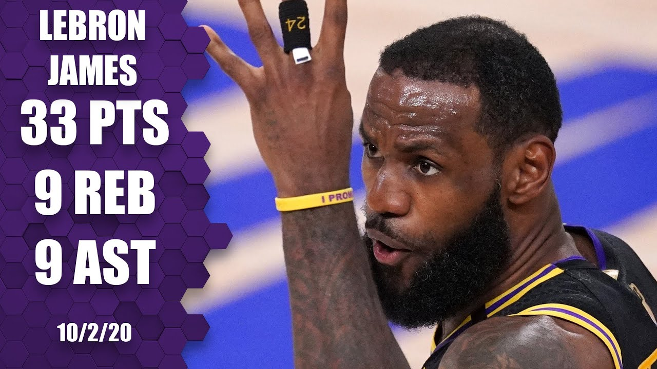 LeBron James goes for 33-9-9 for Lakers vs. Heat [GAME 2 ...