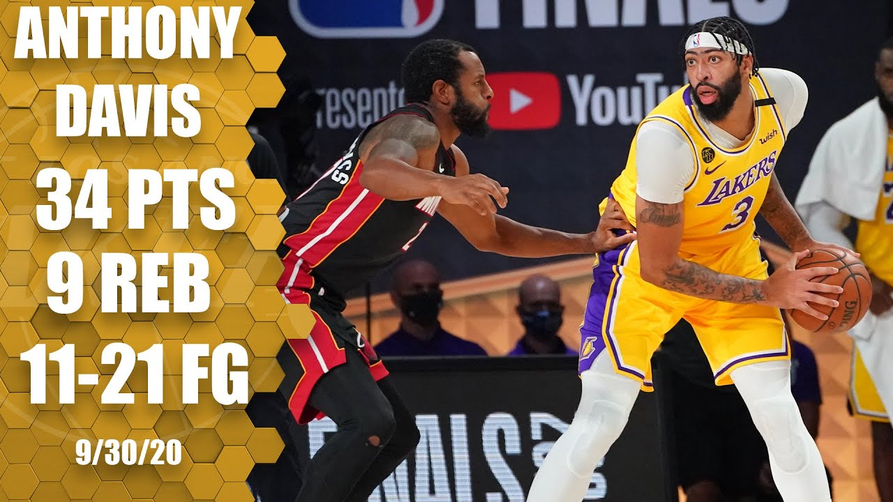 Anthony Davis Leads Lakers With 34 Points Vs Heat Game 1 Highlights 2020 Nba Finals The Global Herald