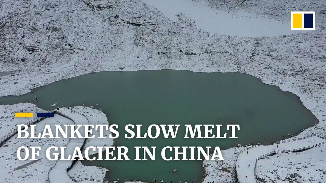 Chinese Scientists cover melting Glacier with quilts to slow loss linked to Climate Change