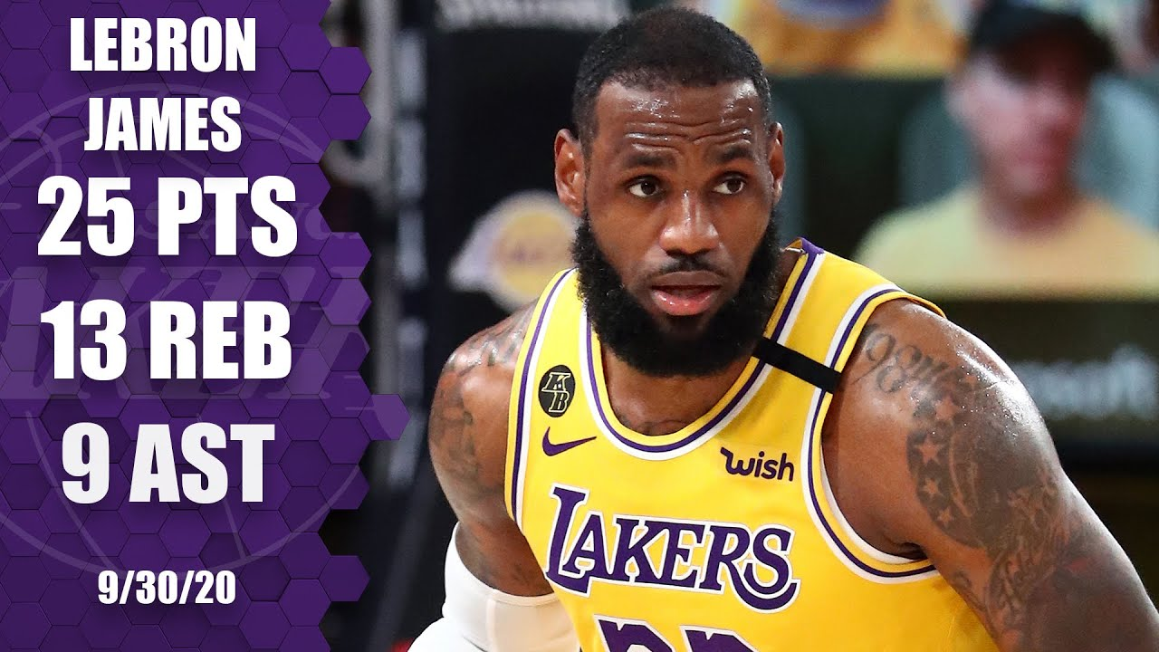 Lebron James Records 25 13 9 For Lakers Vs Heat Game 1 Highlights 2020 Nba Finals The Global Herald