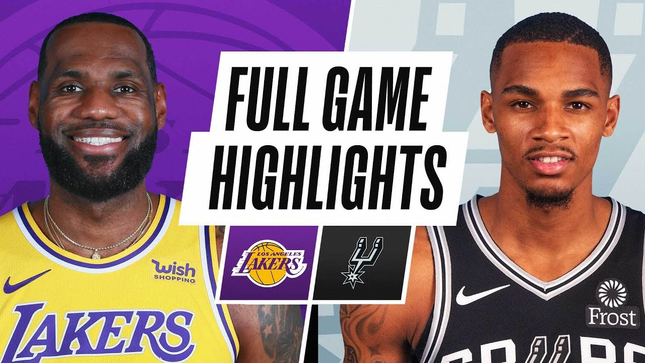 LAKERS at SPURS | FULL GAME HIGHLIGHTS | December 30, 2020 - The Global  Herald