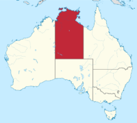 Northern Territory Australia map
