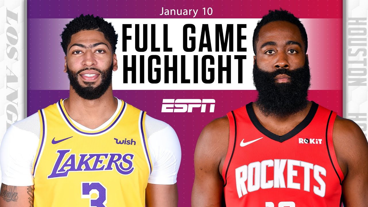 Los Angeles Lakers vs. Houston Rockets [FULL GAME ...