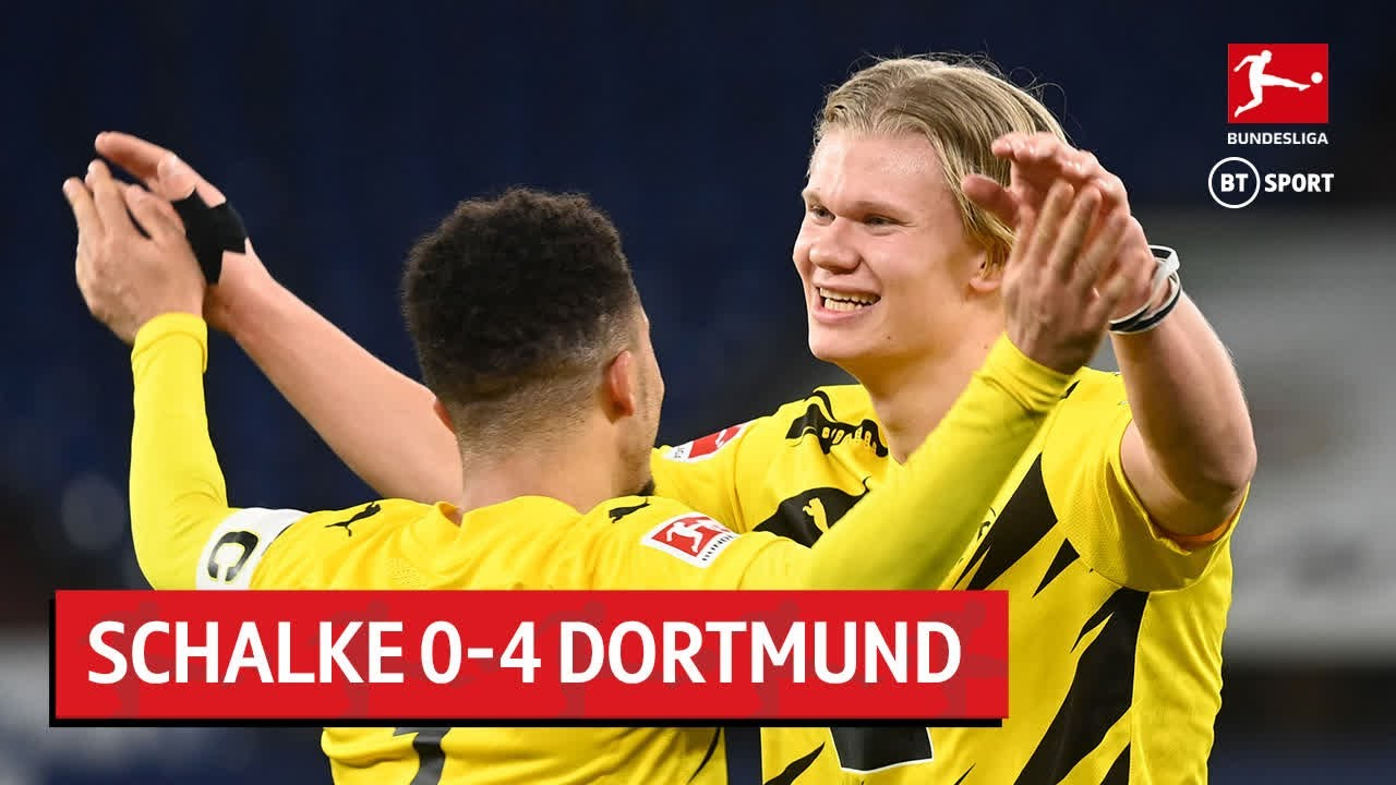 Schalke vs. Dortmund (0-4) | Erling Haaland with a stunner in Revierderby |  Bundesliga Highlights - The Global Herald
