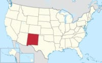 New Mexico on map