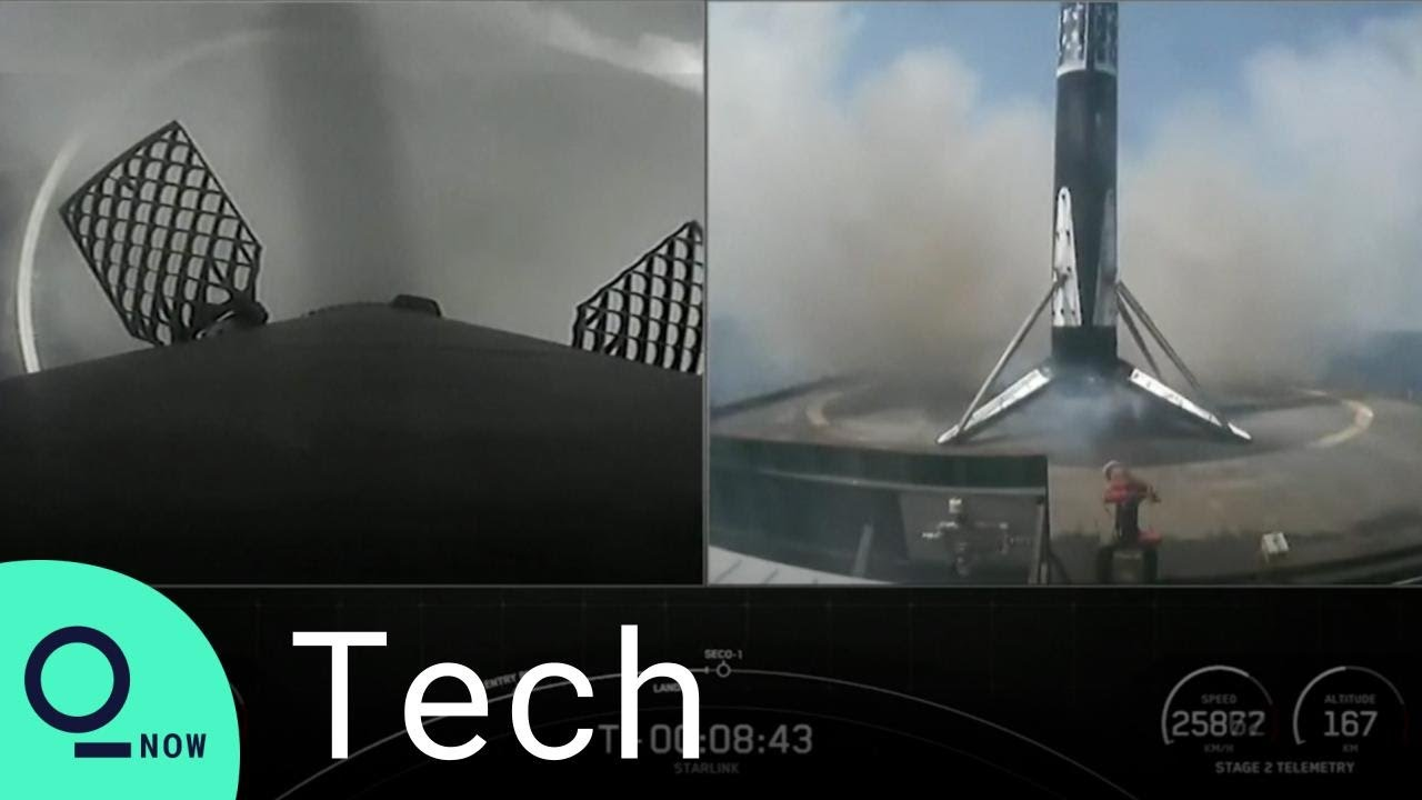 SpaceX Falcon 9 Rocket Nails Landing on Drone Ship at Sea