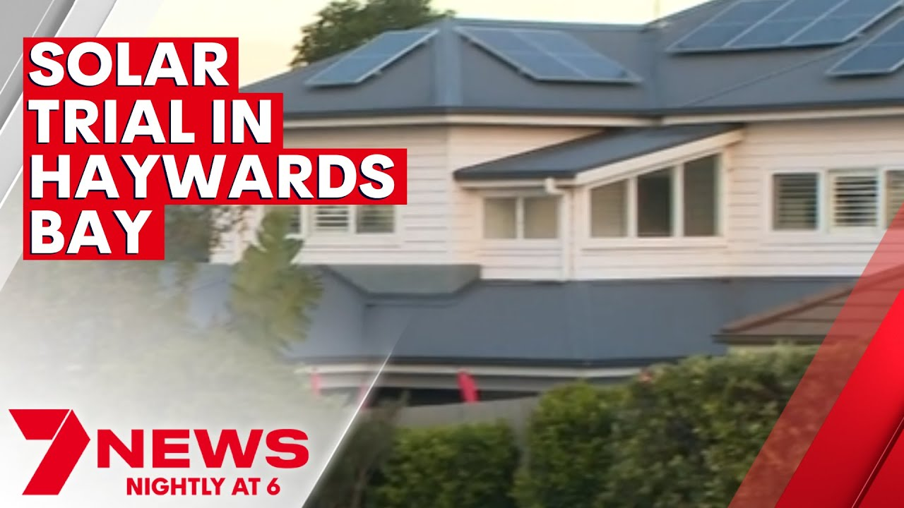 Solar power technology being trialled in Haywards Bay | 7NEWS